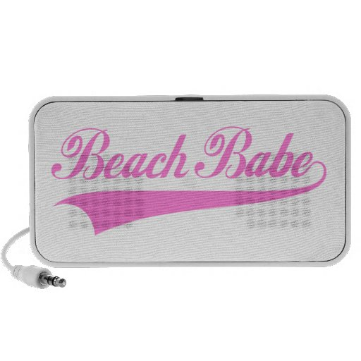 Beach babe, word art, text design for t-shirt iPhone speakers