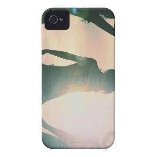 Beach Babes Sunset Silhouette Enjoying the Sun Case-Mate iPhone 4 Case