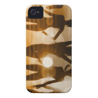 Beach Babes Sunset Silhouette Enjoying the Sun iPhone 4 Case-Mate Case