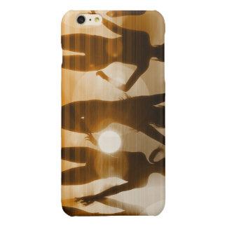 Beach Babes Sunset Silhouette Enjoying the Sun iPhone 6 Plus Case