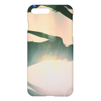 Beach Babes Sunset Silhouette Enjoying the Sun iPhone 7 Plus Case