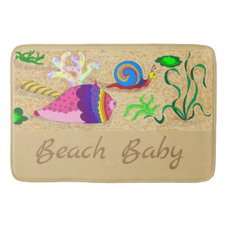 Beach Baby Bath Mat