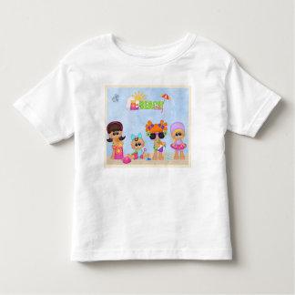 Beach Baby Kids blue pink play time Toddler T-Shirt