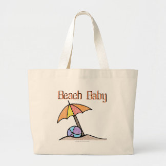 Beach Baby Large Tote Bag