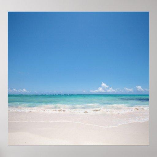 Beach Backgroud Poster