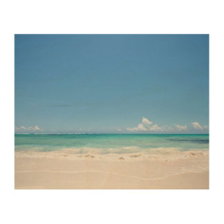 Beach Backgroud Wood Canvases