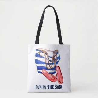 Beach bag Flip Flops Fun Beach Tote Bag