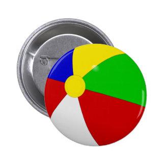 Beach Ball 6 Cm Round Badge