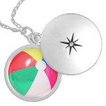 """Beach Ball"" design jewellery set Round Locket Necklace"