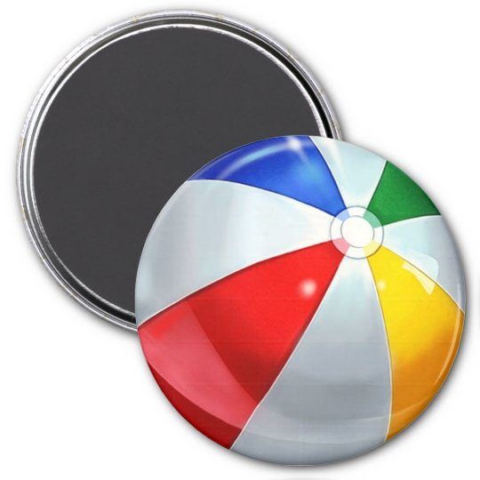 Beach Ball Fridge Magnet #1