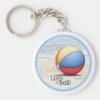 Beach ball keychain