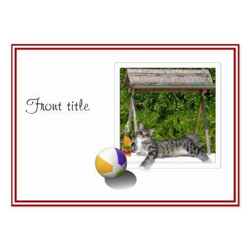 Beach Ball Kitty Photo Business Card Template