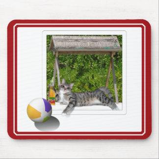 Beach Ball Kitty Photo Mousepads