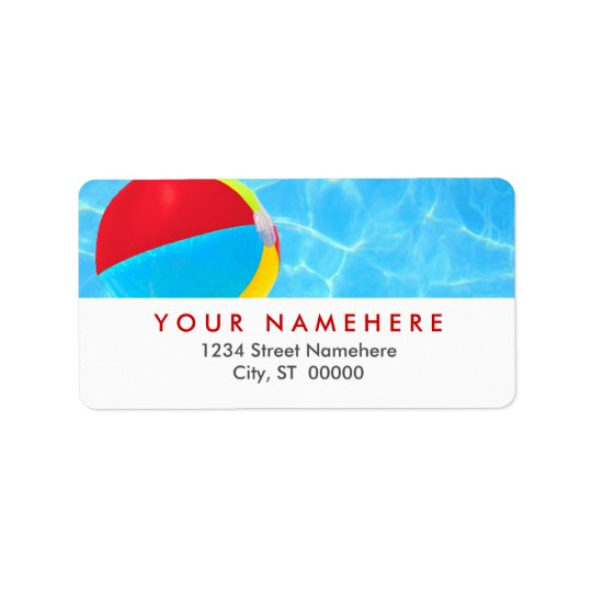 Beach Ball Labels
