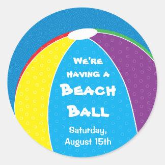 Beach Ball Party Sticker
