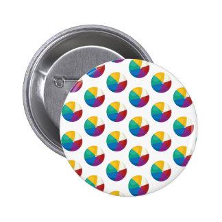 Beach Ball Polka Dots - Fun Summer Print 6 Cm Round Badge