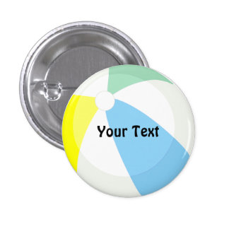 Beach Ball Pool Party Custom Name or Game Champ 3 Cm Round Badge