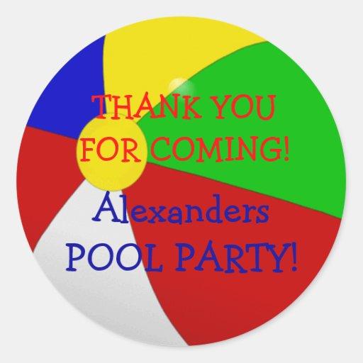 Beach Ball-Pool Party Sticker