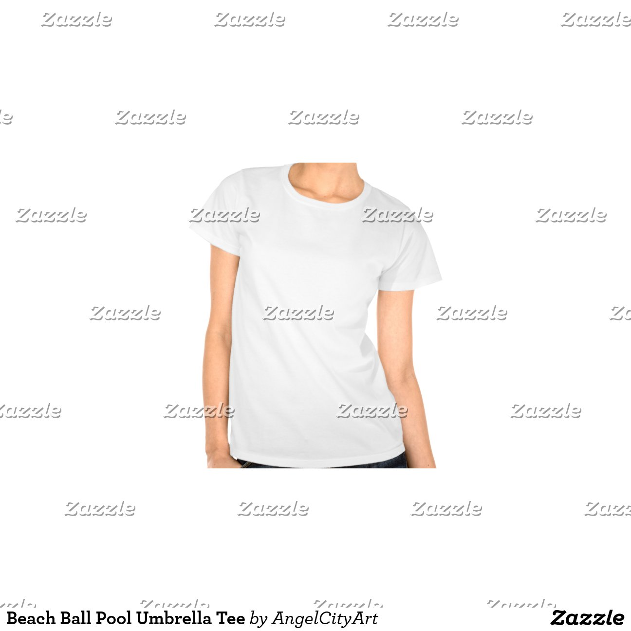 Beach ball pool umbrella tee zazzle for Zazzle t shirt template