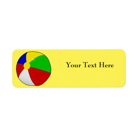 Beach Ball Return Address Labels