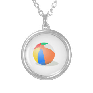 Beach Ball Silver Plated Necklace