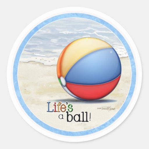 Beach ball stickers