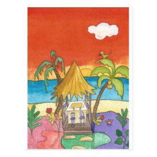 Beach Bar at Sunset Postcard