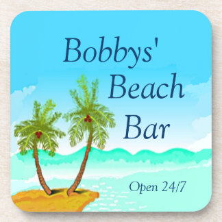 Beach Bar Personalize It Coasters