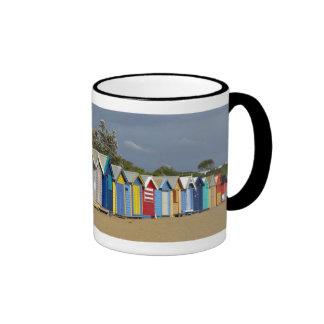 Beach Bathing Boxes Ringer Mug