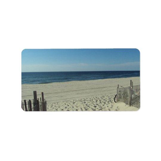 Beach Beauty Address Label