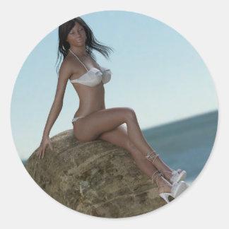 Beach Beauty Marie Sticker