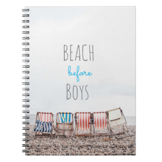 Beach before Boys Custom Photo Notebook