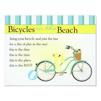 Beach Bicycle 11 Cm X 14 Cm Invitation Card