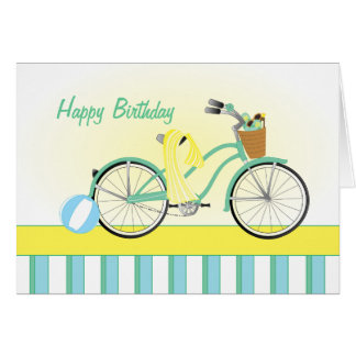 Beach Bicycle Note Card