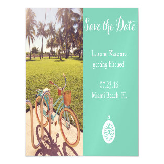 Beach Bicycle Save The Date Magnet