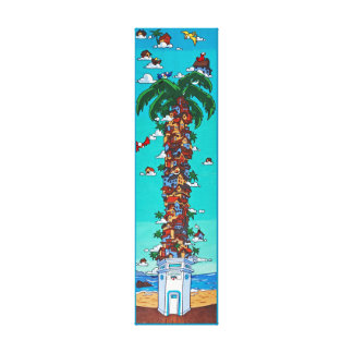 Beach Bird House 2 Canvas Print