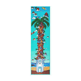 Beach Bird House Canvas Print