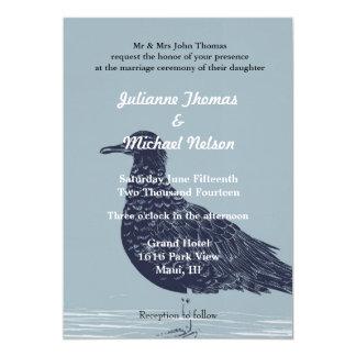 "Beach Bird 5"" X 7"" Invitation Card"