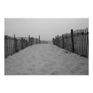 Beach Black and White Photo Print
