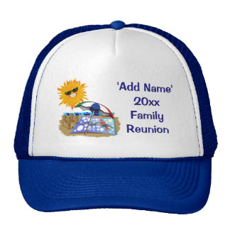 Beach Blanket And Sun Family Reunion Cap