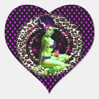 Beach Blanket Bride Heart Sticker