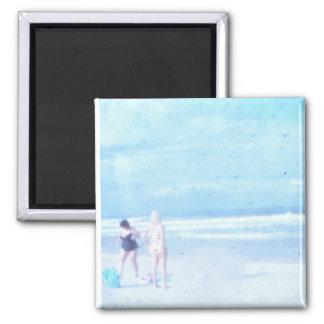 beach bliss square magnet