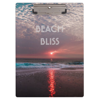Beach Bliss Tropical Paradise Sunset Clipboard
