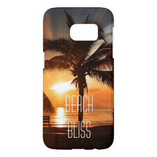 Beach Bliss Tropical Sunset and Palm Tree Editable