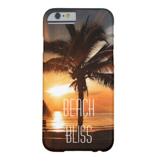 Beach Bliss Tropical Sunset and Palm Trees Custom Barely There iPhone 6 Case