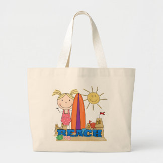 BEACH - Blond Girl Tshirts and Gifts Jumbo Tote Bag