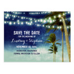 beach blue ombre save the date postcards