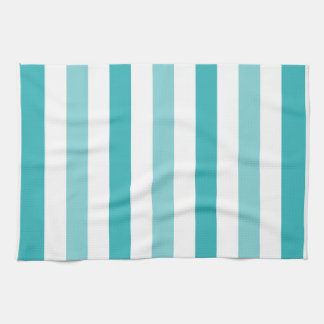 Beach Blue Turquoise Stripes Tea Towel