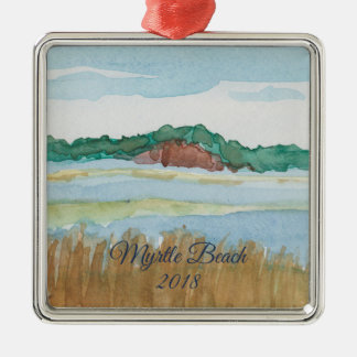 Beach Bluff Watercolor Ornament