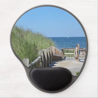 Beach boardwalk photo gel mouse pad